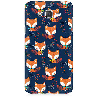 RAYITE Fox Pattern Premium Printed Mobile Back Case Cover For Samsung J7