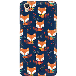 RAYITE Fox Pattern Premium Printed Mobile Back Case Cover For Oppo A37