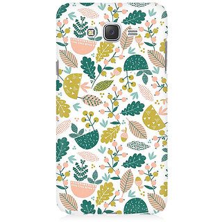 RAYITE Autumn Leaf Pattern Premium Printed Mobile Back Case Cover For Samsung J7