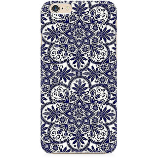 RAYITE Blue Mandala Preum Printed Mobile Back Case Cover For   6/6s
