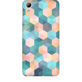RAYITE Hexagon Pattern Premium Printed Mobile Back Case Cover For HTC Desire 826