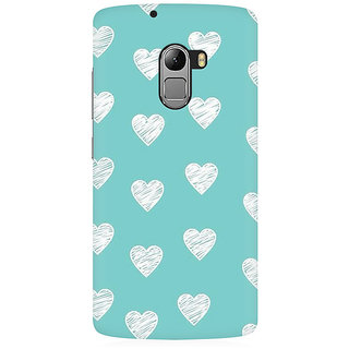 RAYITE White Hearts Pattern Premium Printed Mobile Back Case Cover For Lenovo K4 Note