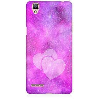 RAYITE Galaxy Heart Premium Printed Mobile Back Case Cover For Oppo A35