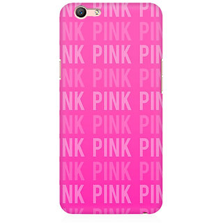 RAYITE Pink Love Pattern Premium Printed Mobile Back Case Cover For Oppo A59