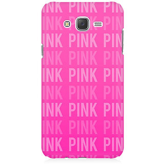 RAYITE Pink Love Pattern Premium Printed Mobile Back Case Cover For Samsung J3