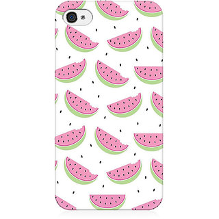 RAYITE Watermelon Preum Printed Mobile Back Case Cover For   4/4s