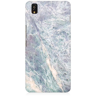 RAYITE Grey Marble Premium Printed Mobile Back Case Cover For OnePlus X