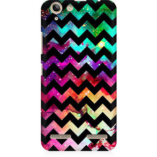 RAYITE Galaxy Chevron Art Premium Printed Mobile Back Case Cover For Lenovo Lemon 3