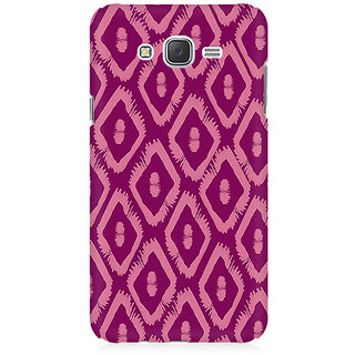 RAYITE Purple Geometric Pattern Premium Printed Mobile Back Case Cover For Samsung J2 2016
