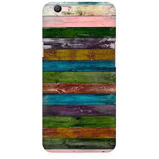 RAYITE Vintage Wood Premium Printed Mobile Back Case Cover For Oppo A59