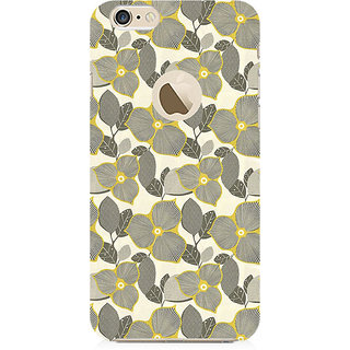RAYITE Gold Floral Preum Printed Mobile Back Case Cover For   6-6s With  Hole
