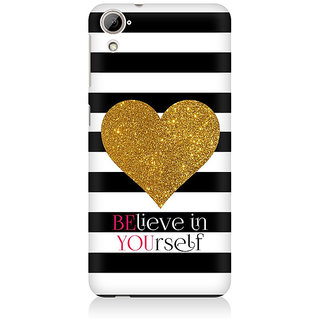 RAYITE Believe Premium Printed Mobile Back Case Cover For HTC Desire 820