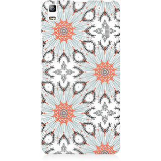 RAYITE Floral Abstract Premium Printed Mobile Back Case Cover For Lenovo A7000