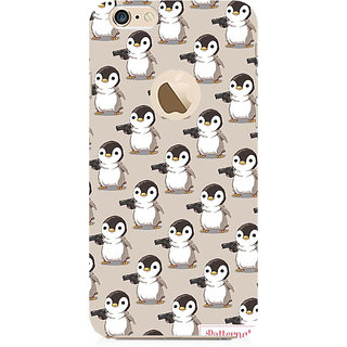 RAYITE Penguin With Guns Preum Printed Mobile Back Case Cover For   6-6s With  Hole