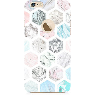 RAYITE Colourful Marble Abstract Preum Printed Mobile Back Case Cover For   6-6s With  Hole