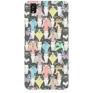 RAYITE Cool Cat Pattern Premium Printed Mobile Back Case Cover For OnePlus X