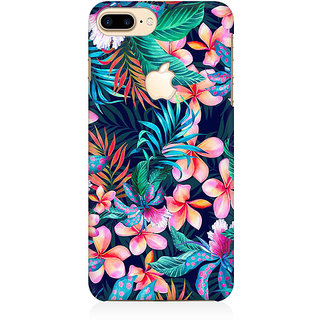 RAYITE Tropical Nature Premium Printed Mobile Back Case Cover For Apple IPhone 7 Plus Apple Logo Cut