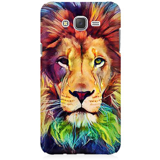 RAYITE Lion Abstract Premium Printed Mobile Back Case Cover For Samsung J7