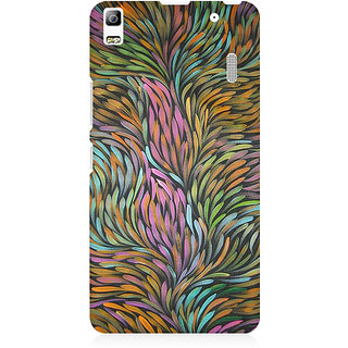 RAYITE Colourful Flames Premium Printed Mobile Back Case Cover For Lenovo A7000