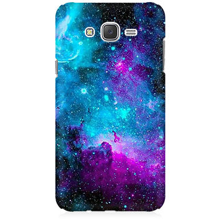RAYITE Blue Galaxy Premium Printed Mobile Back Case Cover For Samsung J7