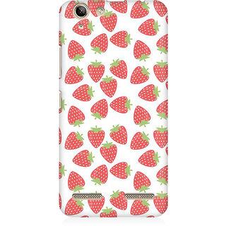 RAYITE Strawberry Pattern Premium Printed Mobile Back Case Cover For Lenovo Lemon 3