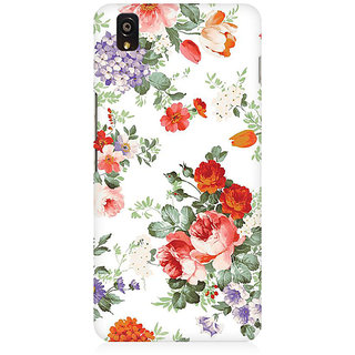 RAYITE Flower Pattern Premium Printed Mobile Back Case Cover For OnePlus X