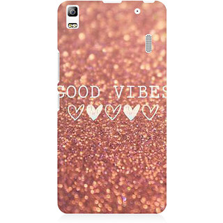 RAYITE Good Vibes Glitter Print Premium Printed Mobile Back Case Cover For Lenovo K3 Note