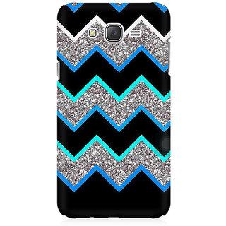 RAYITE Dark Chevron Glitter Print Premium Printed Mobile Back Case Cover For Samsung J7 2016 Version