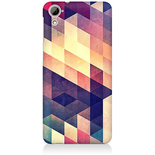 RAYITE Geometric Abstract Art Premium Printed Mobile Back Case Cover For HTC Desire 820