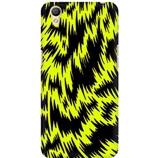 RAYITE Yellow Cheetah Pattern Premium Printed Mobile Back Case Cover For Oppo A37