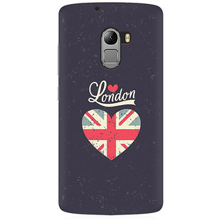 RAYITE London Love Premium Printed Mobile Back Case Cover For Lenovo A7010