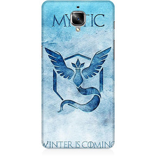 RAYITE Mystic Winter Is Coming Premium Printed Mobile Back Case Cover For OnePlus Three