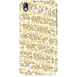 RAYITE Golden Cheetah Pattern Premium Printed Mobile Back Case Cover For HTC Desire 816