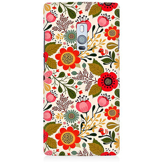 RAYITE Cute Flower Premium Printed Mobile Back Case Cover For OnePlus Two