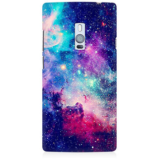 RAYITE Blue Galaxy Hub Premium Printed Mobile Back Case Cover For OnePlus Two