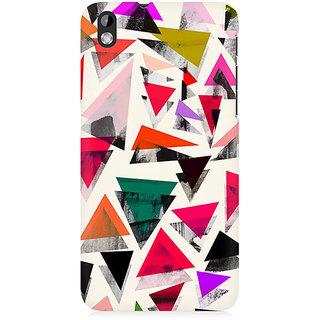 RAYITE Watercolor Triangle Pattern Premium Printed Mobile Back Case Cover For HTC Desire 816