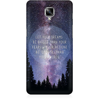 RAYITE Dream Big Premium Printed Mobile Back Case Cover For OnePlus Three