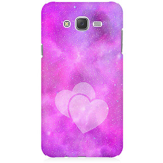 RAYITE Galaxy Heart Premium Printed Mobile Back Case Cover For Samsung J7