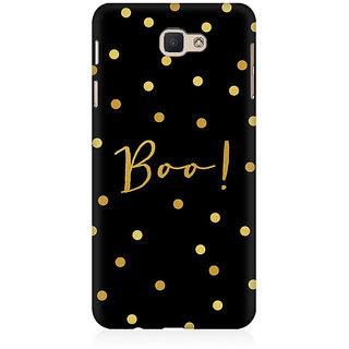 RAYITE Boo Gold Polka Dot Premium Printed Mobile Back Case Cover For Samsung J7 Prime