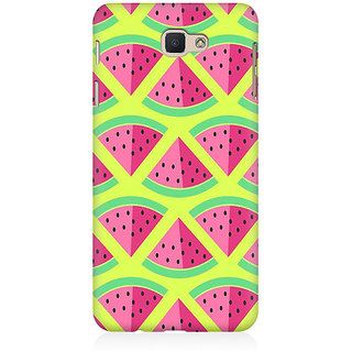 RAYITE 3D Watermelon Pattern Premium Printed Mobile Back Case Cover For Samsung J7 Prime