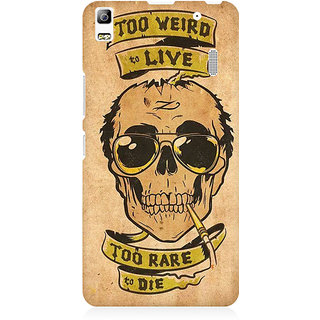 RAYITE Too Weird To Live Premium Printed Mobile Back Case Cover For Lenovo A7000