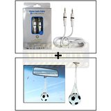 Alpha High Quality Aux Cable Male To Male + Hanging Football Car Air Freshener Perfume