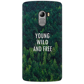 RAYITE Young Wild And Free Premium Printed Mobile Back Case Cover For Lenovo K4 Note