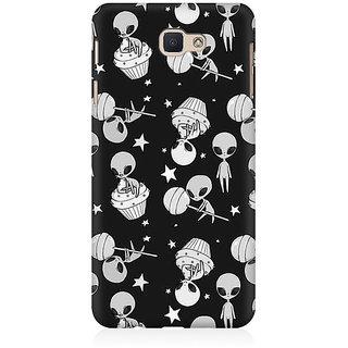 RAYITE Aliens Pattern Premium Printed Mobile Back Case Cover For Samsung J7 Prime