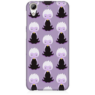 RAYITE Purple Mermaids Pattern Premium Printed Mobile Back Case Cover For HTC Desire 626