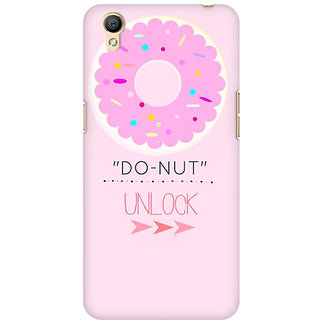 RAYITE Do Nut Unlock Premium Printed Mobile Back Case Cover For Oppo A37