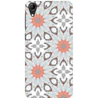 RAYITE Floral Abstract Premium Printed Mobile Back Case Cover For HTC Desire 728
