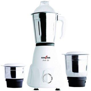 Kenstar AXE-3S 500-Watt Mixer Grinder (White)