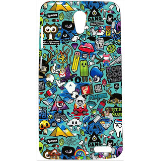 competitive price 750d0 56f53 FCS UV Printed Soft Silicon Back Cover For Micromax Vdeo 2 Q4101 With OTG  Adapter