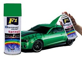 F1 Aerosol Spray Paint Green 450ml - Car/bike Multi Purpose